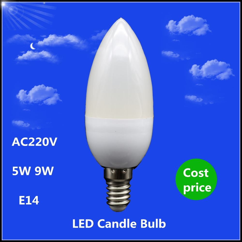 Buy 1x Cost Price Led Candle Lamp E14 5w 9w 220vac Spotlight Smd2835 Warm