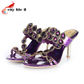 Rhinestone Pumps For Women 2015 New Sexy Stiletto Heel Shoes Women Hollow Out Luxury Brand Diamond