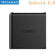 Buy New T95X Smart Android 6.0 TV Box Amlogic S905X quad core WIFI media player 1GB 8GB network set top box DLAN 4K*2K HDMI XBMC for $29.96 in AliExpress store