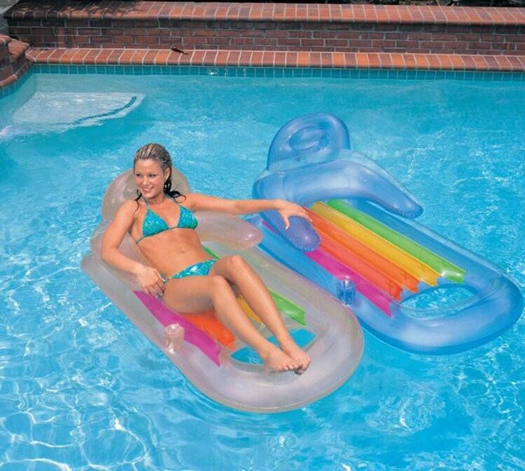 Outdoor swimming water inflatable mattress 160*85cm swim pool air mattress bearing(China (Mainland))
