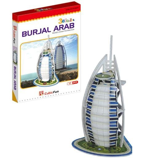 Christmas/Birthday gift,3D DIY Models,Home Adornment,Model Puzzle Toy,Papermodel,Papercraft,Card model,Burjal Arab
