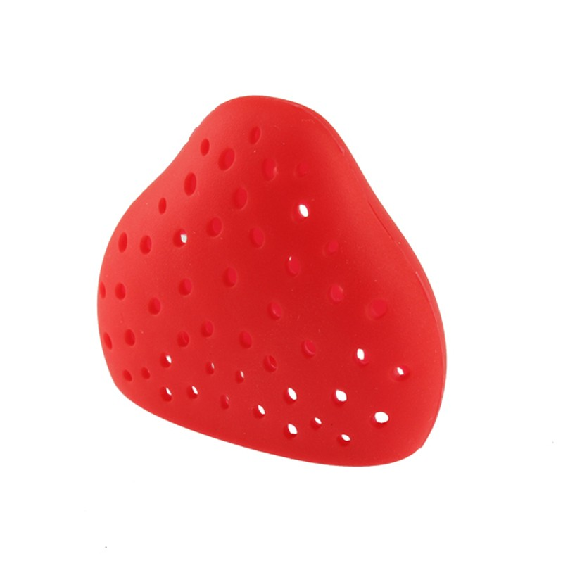 Lovely Fruit Strawberry Shape Silicone Gel Tea Herbal Spices Leaf Infuser Strainer Free Shipping  MTY3