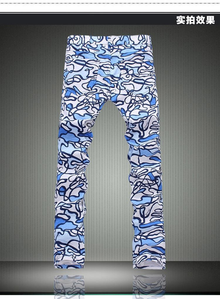 ORINERY 2017 New Designer Printed Jeans Men Fashion High Quality  Mens Denim Overall Skinny Jeans Brand Clothing Plus Size
