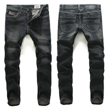 2016 New Famous Brand Disel Jeans High Elasticity Straight Denim Pants Men Homme Ripped DSQ Jeans Male Biker Jeans
