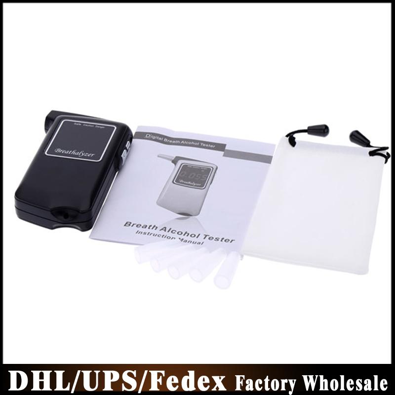 Free DHL Fedex 50pcs/lot Breathalyser Patent Prefessional Police Digital Breath Alcohol Tester AT858 Breathalyzer(China (Mainland))