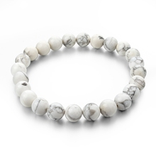 Natural Stone Strand Bracelets With Stones Love Casual Men Jewelry White Turquoise Beads Bracelets & Bangles for Women 2016 Gift(China (Mainland))