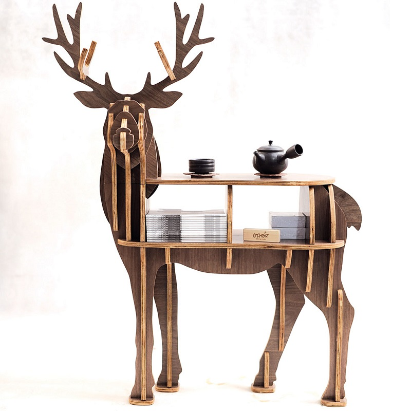 """New!J&E High end """"S"""" size lookback reindeer table Wooden home furniture! self build puzzle ..."""
