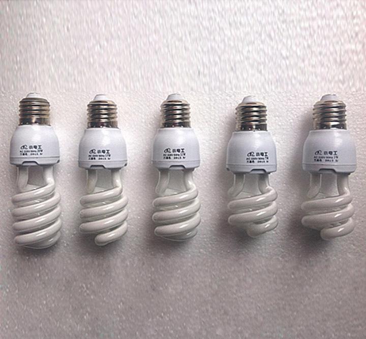 5PCS/PACK 9W 13W Spiral E27 Fluorescent Light Bulb Energy Saving White/Yellow CFL(China (Mainland))