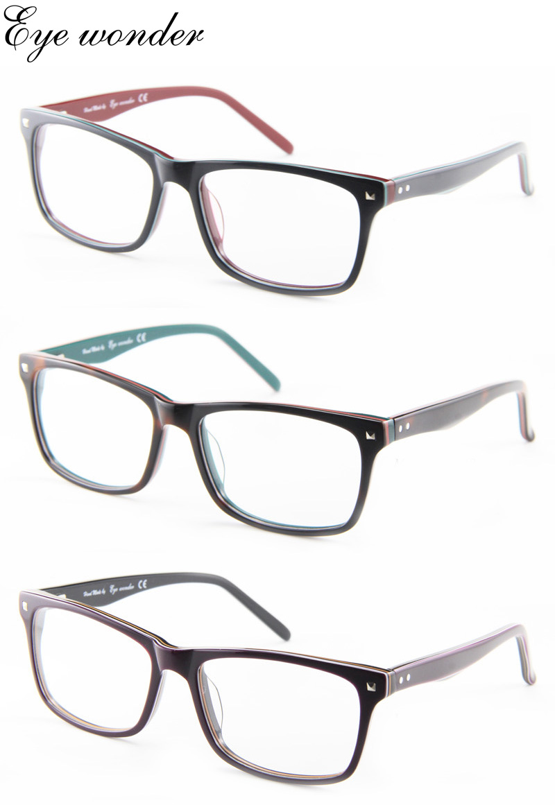 Eye wonder Women's Acetate Glasses Frames Men Optical Frames for Myopia Eyes(China (Mainland))