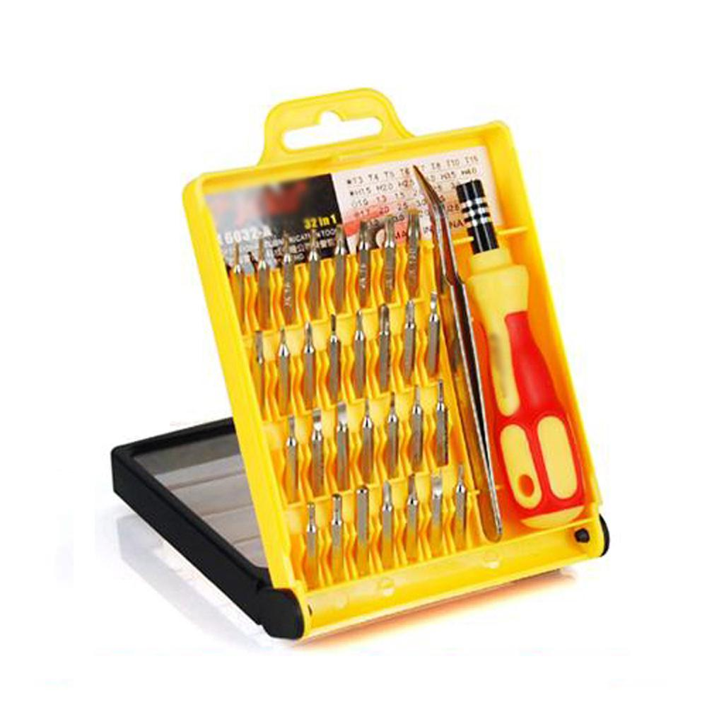 hot sale! New Pro 32 Mobile Phone Repair Set Tool Kit T4 T5 T6 T8 Screw Driver Precision(China (Mainland))
