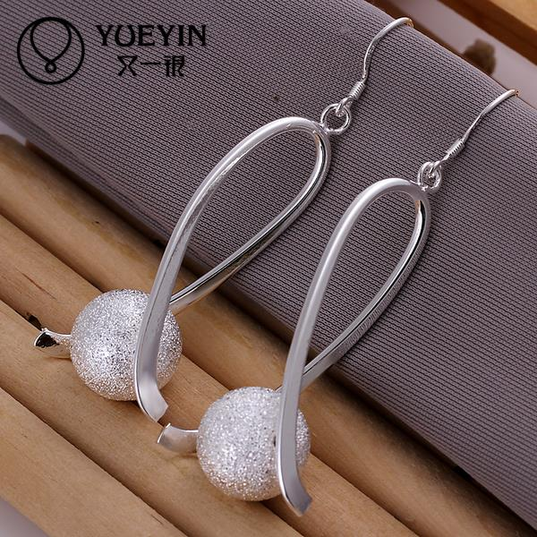E133 Fashion Wedding Vintage Indian Jewelry 925 Sterling Silver Earrings For Women Party Long brincos/pendientes/orecchini(China (Mainland))