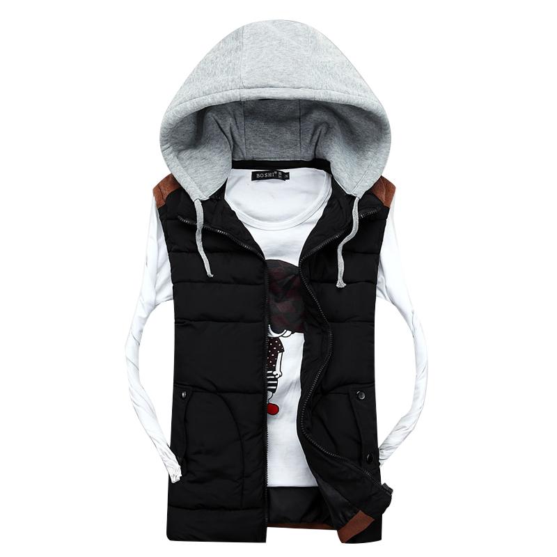 New Brand Men Women Warm Winter Waistcoat Mens Outwear Down Vest Jacket with Hooded Thick Sleeveless Coat For Man VestÎäåæäà è àêñåññóàðû<br><br>