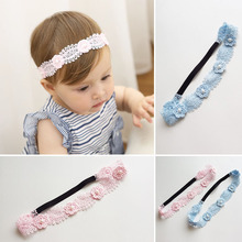 Buy 2017 New Pink Blue Lace Flower Hairbands Girls Headwear Children Headbands Elastic Hair Band Kids Hair Accessories for $1.54 in AliExpress store
