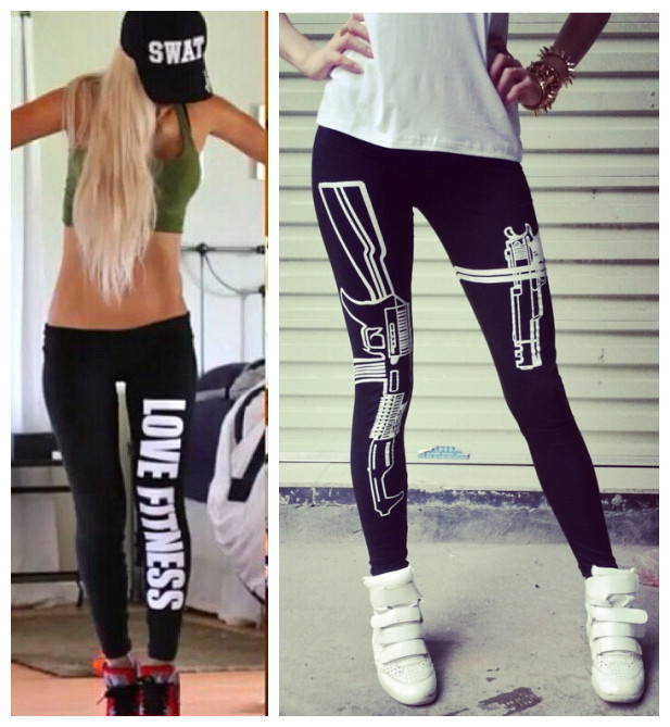 2015 Winter Warm Women Sports Legging Pants Work out Printed Black Casual Sexy Bottom Fitness Leggings Leggins Pants Plus Size(China (Mainland))