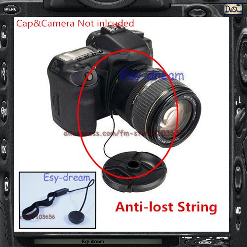 Anti-Losing Snap-on Capkeeper Lens Cap Keeper Holder String Lanyard Rope Strap For DC DSLT DSLR SLR Film Cameras PA268(China (Mainland))