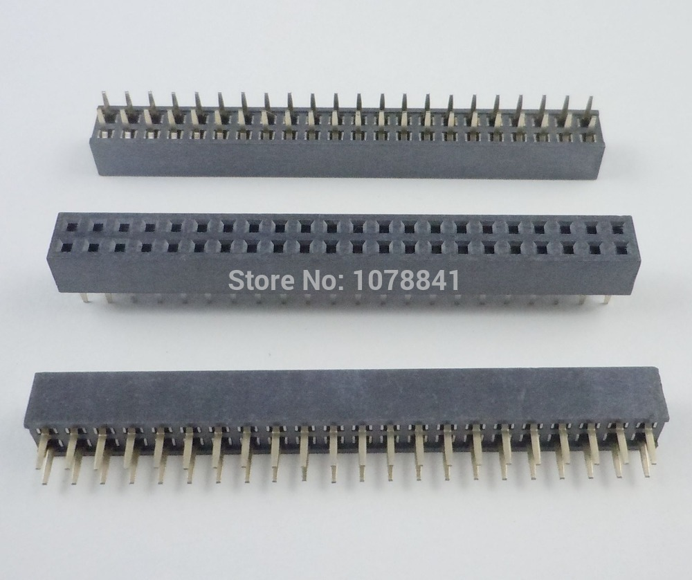 50 Pcs Per Lot Pitch 2mm 2x22 Pin 44 Pin Female Double Row Straight Pin Header Strip от Aliexpress INT