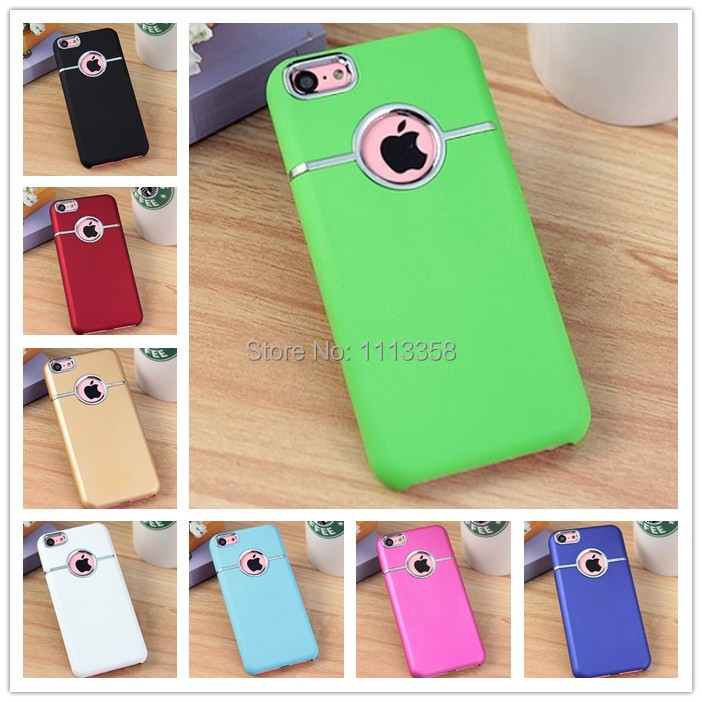 Luxury Deluxe Chrome Hard Case Back Cover Casing With Metal Ring Rear Round Hole Cover for iPhone 5C Wholesale Price 200pcs/lot(China (Mainland))