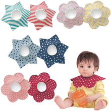 2016 newborn baby bibs burp clothes double layered cotton water proof flower shaping blue red pink infant todders bandana FC087(China (Mainland))