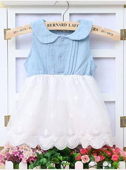 2014 summer Korean dress baby girls'Princess Dress sleevess dress A288