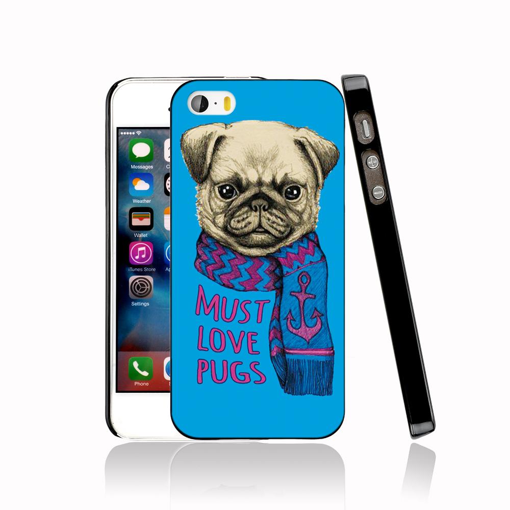13347 <font><b>must</b></font> <font><b>love</b></font> pugs <font><b>dog</b></font> protective Cover cell phone Case for iPhone 4 4S 5 5S 5C SE 6 6S Plus 6SPlus