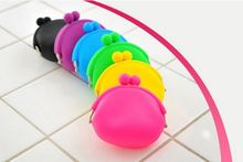 New 2015 Hot Selling Soft Rubber Silicone Round Coin Purse Holder Mini Change Wallet Card Key
