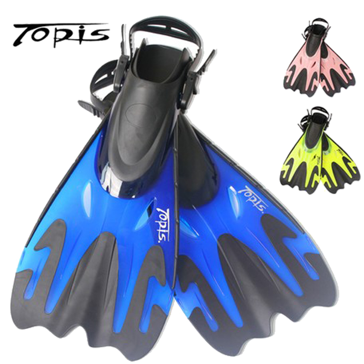 Free Shipping Professional submersible F-7101 topis fins long big flipper adjustable snorkeling Wholesale new(China (Mainland))