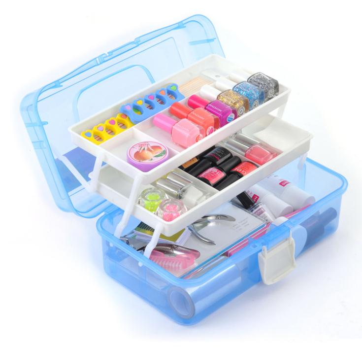New 2015 Fashion Nail Art Tool Box Multi Utility Storage 3 Layer Plastic Case Makeup Craft Manicure Salon Kit Accessories()