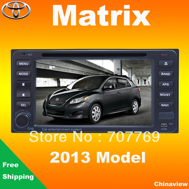 HD Car dvd head unit for Toyota Matrix 2013 with GPS navigation radio tape recorder