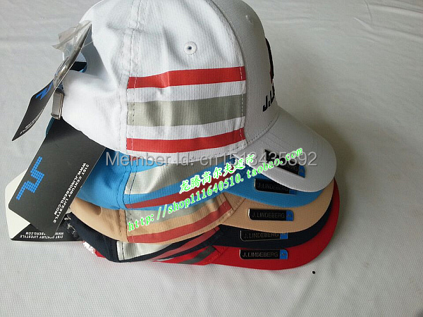 Free Air Mail Shipping Wholesale Discount Golf Items 2016 J  L Golf Hat Golf Caps Sun visors 2Pcs/Lot 5 Colors Available