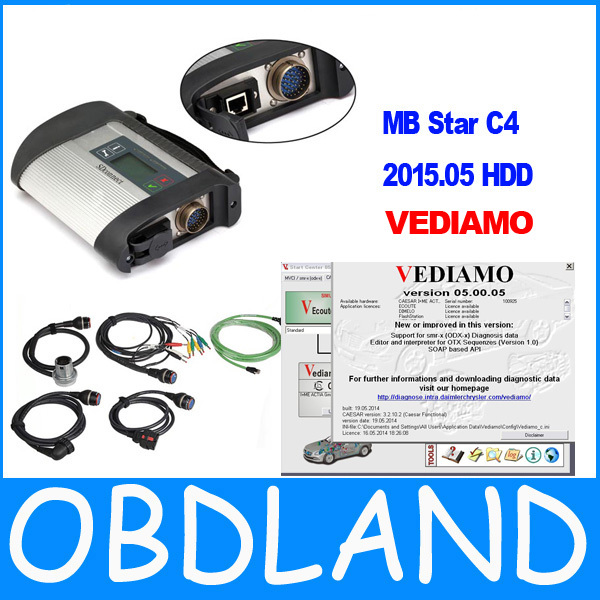 21 languages NEW MB Star C4 MB SD connect 4 diagnosis compact 4 DAS XENTRY Vediamo 05.00.05 version MB factory developer(China (Mainland))