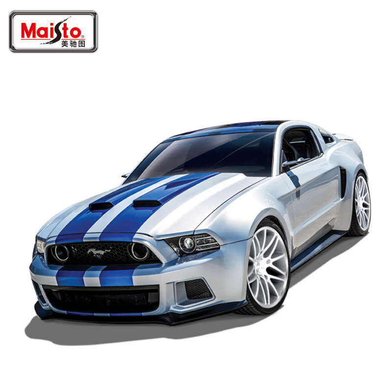 Brand New Very Cool 1/24 Scale Car Model Toys Classical Ford Mustang GT Diecast Metal Car Toy For Gift/Collection -Free Shipping(China (Mainland))