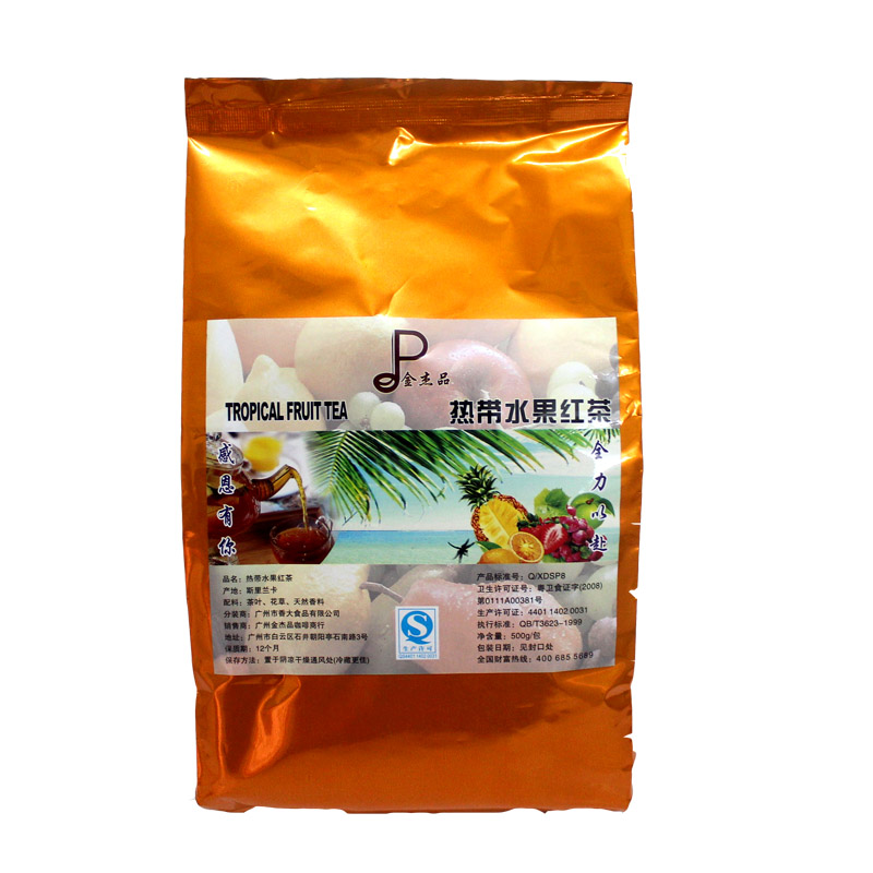 Taiwan s imports of tropical fruits black tea has a unique taste real fruit grain stores