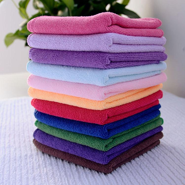 24.5X 23.5cm New 10pcs Square Luxury Soft Fiber Cotton Face Hand Car Cloth Towel House Cleaning Practical Wholesale(China (Mainland))