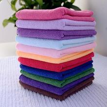 New 10 pcs luxe Square Soft coton Fiber visage main serviette de voiture serviette maison de nettoyage pratique gros(China (Mainland))