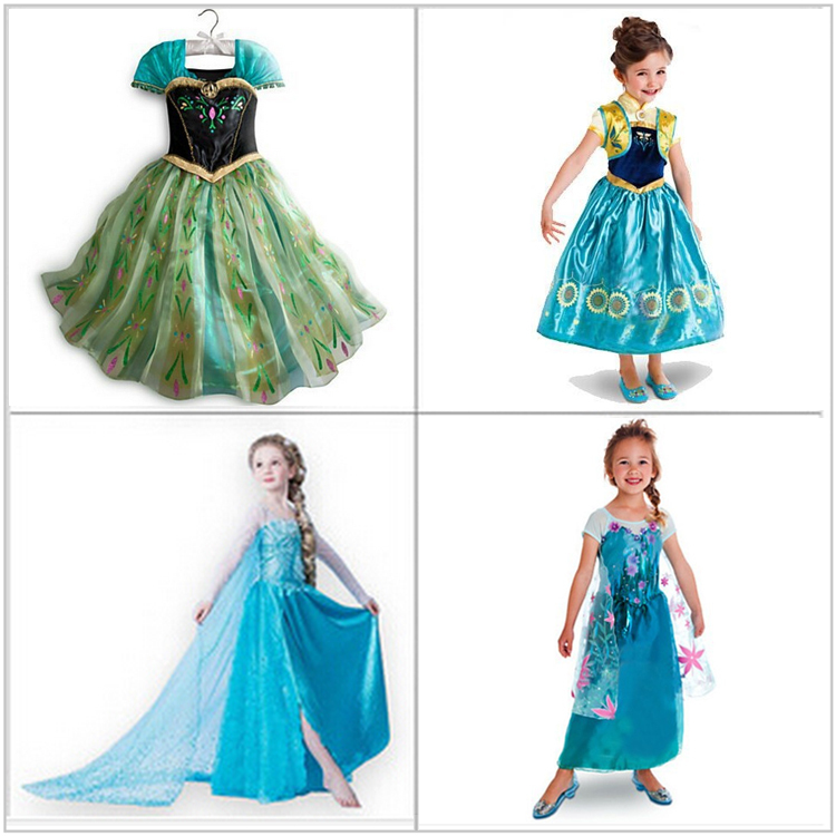 Girls Girl Summer Coronation Dresses Party Princess children Dress Vestidos De Menina Costume Cosplay Fantasia Clothes(China (Mainland))