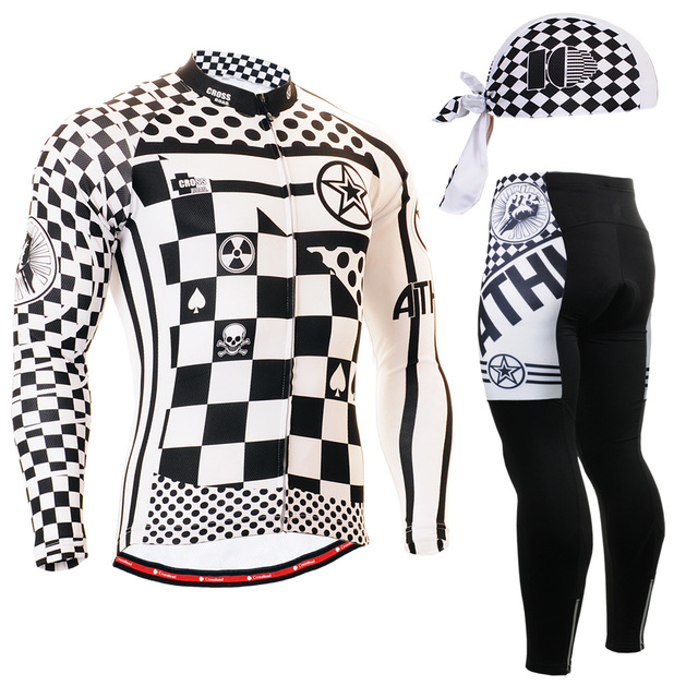 Фотография Life on Track 2016 Pro Team Mens Bike Clothing  MTB Bicycle Jerseys Autumn Long Sleeve Cycling Clothes Sets