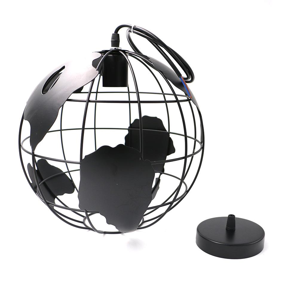 Moderne globe pendentif lumières noirblanc couleur pendentif lampe art sculpté creux boule pendante lampes e27 lamparas ac110v