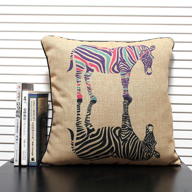Decorative Pillow Covers With Zippers : Free shipping high quality linen invisible zipper