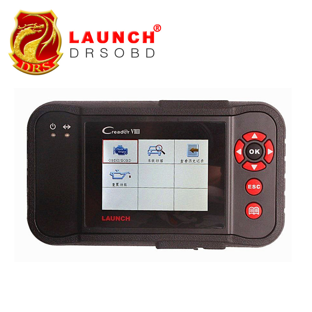 100% Original Launch Creader VIII Code Reader Same Function as CRP Creader 8 ENG/AT/ABS/SRS EPB SAS Oil Service Light resets(China (Mainland))