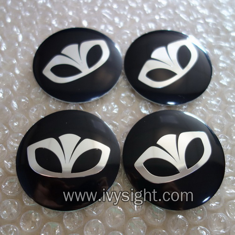 56mm logo Daewoo black/Silver Car emblem Wheel Center Hub sticker accessories 4pcs/lot Free shipping Auto accessories(China (Mainland))