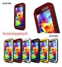 Любовь Мэй Оригинальные Экстремальные Мощный Жизнь ударопрочный водонепроницаемый металлический корпус для Samsung Galaxy S5 + Gorilla Glass