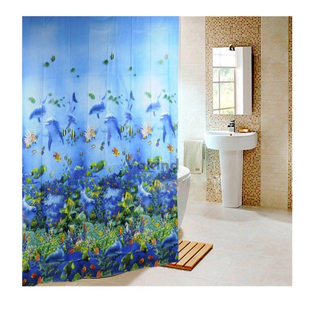 Commentaires rideaux de douche bleu faire des achats en - Rideau de douche tissu impermeable ...
