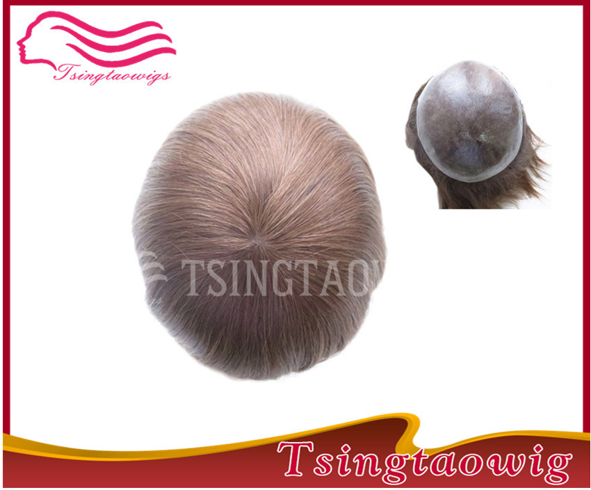 new arrival 100% Euopean remy hair Injection poly skin stock men toupee free shipping