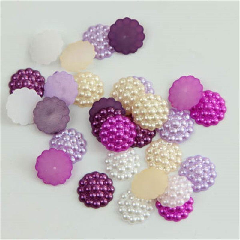 Hot Selling 100Pcs/Lot Mixed Resin Flower Flatback Appliques For Phone Wedding DIY Craft P40(China (Mainland))