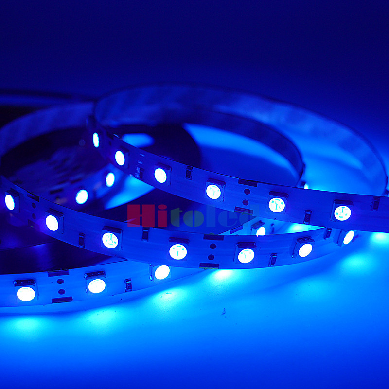 Wholesale 100m 20Roll x 5M UV Ultra Violet 395-405nm 5050 SMD 60 LEDs/M 300LEDs Flexible LED Strip Light Non-Waterproof DC 12V(China (Mainland))
