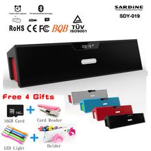Newest Original HIFI Protable Bluetooth Speakers Sardine SDY019 Mini Wireless Speaker Big Power 10W FM Radio USB Amplifiers