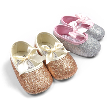 Free shipping 2015 Bling golden leather baby toddler shoes princess ballet sequins infants shoes 2217