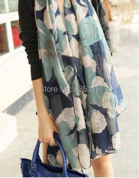 Flowe Long Slik Scarf Women 2015 New Fashion Scarves Elegant Big Print Soft Scarfs Wrap Shawl Pashmina Echarpe Foulard Luxury(China (Mainland))