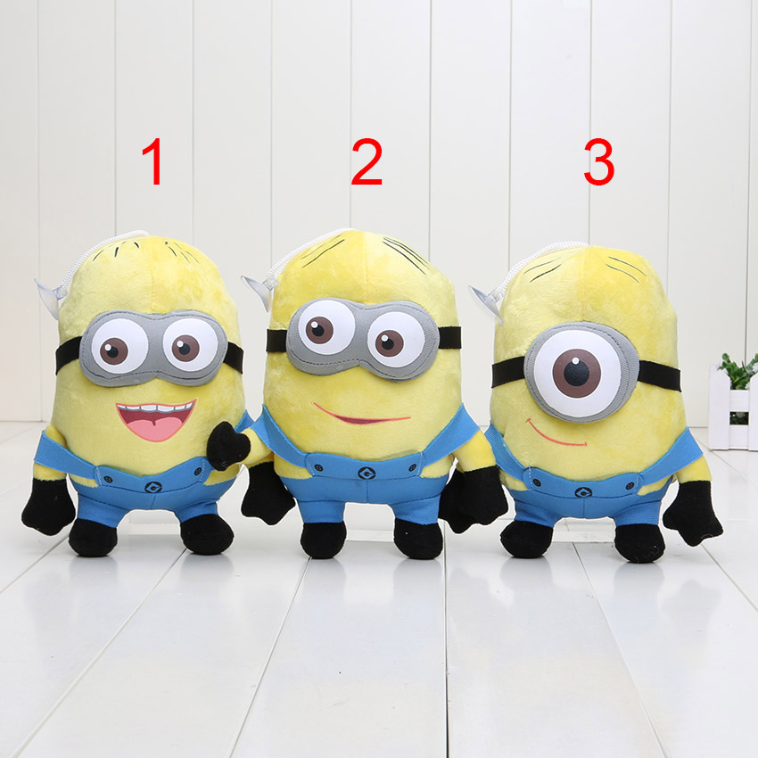 "18CM despicable me 3D eyes plush Toy baby toys jorge stewart dave despicable me plush toys Dolls 7"" Soft Stuffed plush Animals(China (Mainland))"
