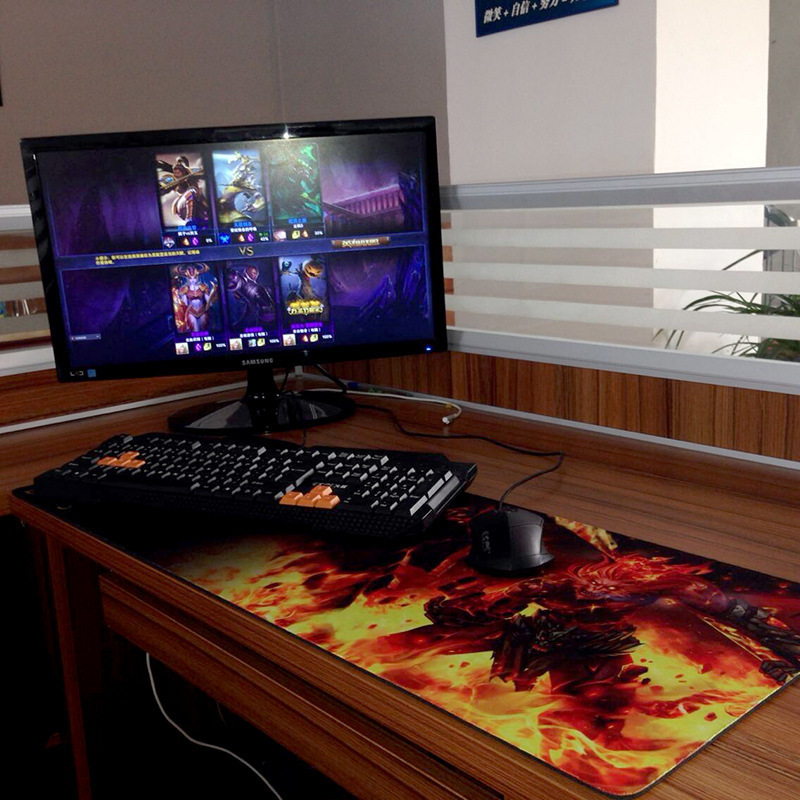 ultralarge mouse pad large desk pad keyboard pad table mat 900 400 4mm league of legends lol big. Black Bedroom Furniture Sets. Home Design Ideas